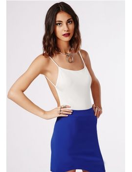 purdy-backless-crepe-bodysuit-white by missguided