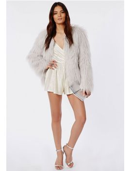 metallic-strappy-wrap-front-playsuit-silver by missguided