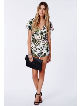 lateta-palm-print-wrapover-romper by missguided