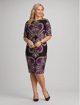 roz-&-ali™-plus-size-paisley-dress by dressbarn