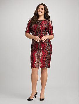 roz-&-ali-plus-size-embellished-paisley-dress by dressbarn