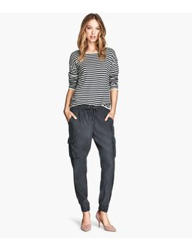 lyocell-blend-cargo-pants by h&m