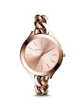 slim-runway-rose-gold-tone-chain-link-watch by michael-kors