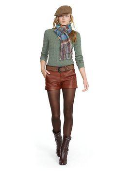 cuffed-leather-short by ralph-lauren