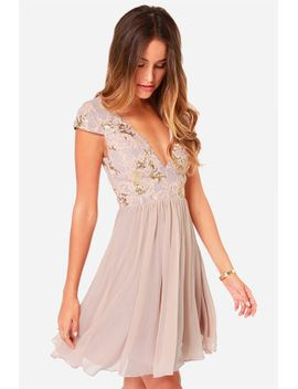 bariano-sabina-beige-sequin-dress by bariano