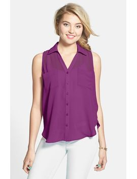 sleeveless-chiffon-blouse by lush