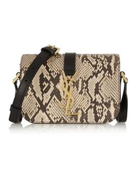 monogramme-sac-université-python-and-leather-shoulder-bag by saint-laurent