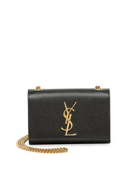 kate-monogram-leather-crossbody-bag,-black by saint-laurent