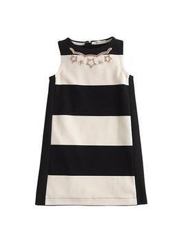 girls-necklace-dress-in-jumbo-stripe by jcrew