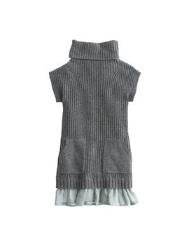girls-silk-ruffle-sweater-dress by jcrew