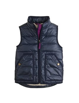 girls-shiny-puffer-vest by jcrew