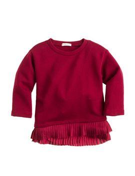 girls-ruffle-hem-sweatshirt by jcrew