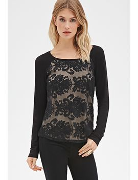 embroidered-mesh-overlay-top by forever-21