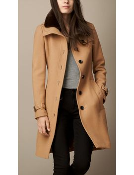 wool-blend-twill-coat-with-shearling-topcollar by burberry