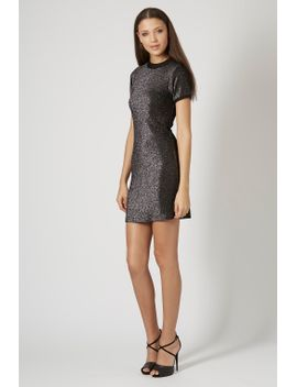 glitter-high-neck-bodycon-dress by topshop