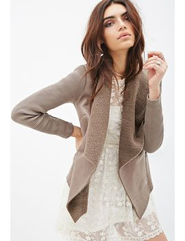 faux-suede-draped-collar-jacket by forever-21