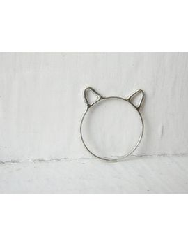 cat-ears-ring-cat-ring-sterling-silver by autumnequinox