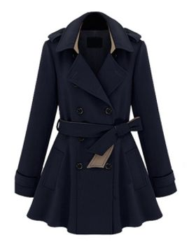 double-breasted-belted-skater-trench-coat-in-blue by choies