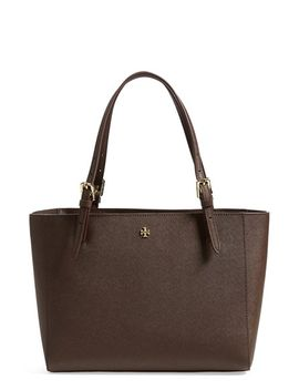 small-york-saffiano-leather-buckle-tote by tory-burch
