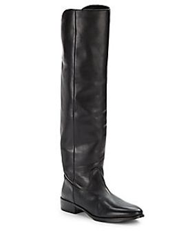 knee-high-leather-back-zip-boots by saks-fifth-avenue