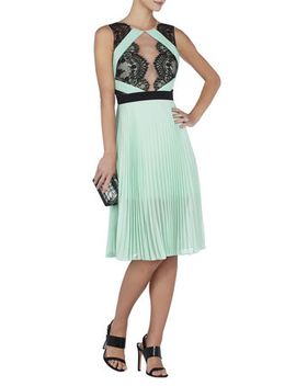 arianne-scalloped-edge-pleated-dress by bcbgmaxazria