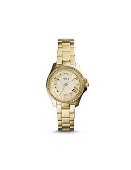 cecile-small-three-hand-stainless-steel-watch---gold-tone by fossil