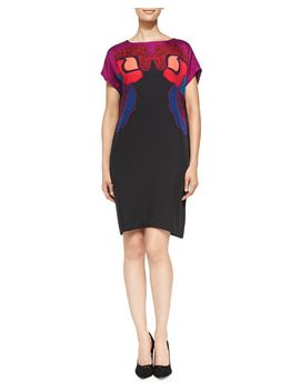 harriet-rose-gate-cerise-dress by diane-von-furstenberg