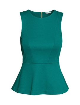 sleeveless-peplum-top by h&m