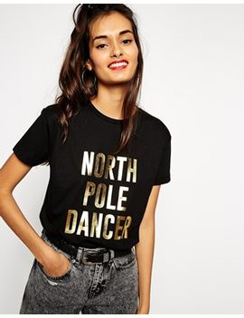 asos-t-shirt-with-christmas-north-pole-dancer-foil-print by asos