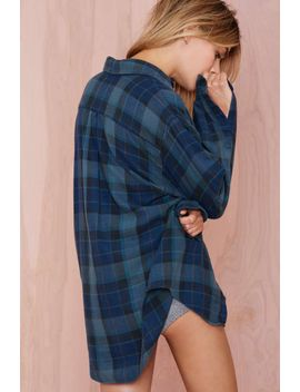 after-party-vintage-tried-and-true-flannel---navy by nasty-gal