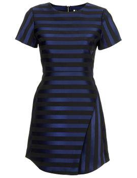 matte-satin-stripe-dress by topshop