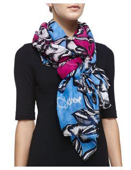 hanovar-poppy-printed-scarf,-pink_blue by diane-von-furstenberg