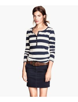 jersey-top-with-buttons by h&m