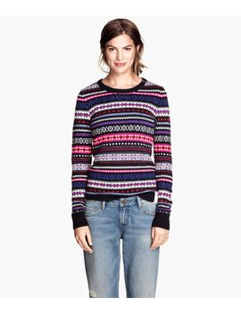jacquard-knit-jumper by h&m