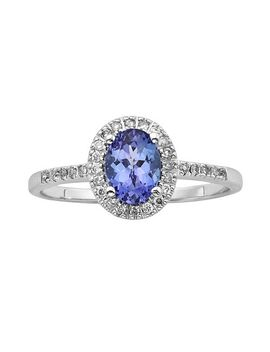 the-regal-collection-14k-white-gold-genuine-tanzanite-and-1_7-ct-tw-diamond-halo-ring by kohls