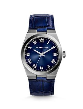 channing-embossed-leather-silver-tone-watch by michael-kors