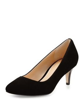 lena-suede-pointed-toe-pump,-black by cole-haan