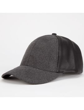 faux-leather_wool-womens-snapback-hat by tillys