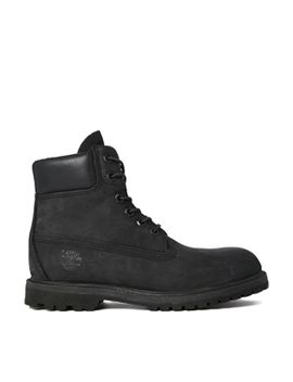 timberland-6-inch-premium-black-lace-up-flat-boots by timberland-