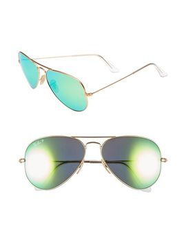 standard-icons-58mm-mirrored-polarized-aviator-sunglasses by ray-ban