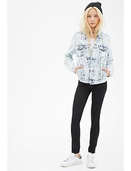 distressed-acid-wash-denim-jacket by forever-21