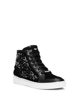 nadine-embellished-suede-high-top-sneaker by michael-kors