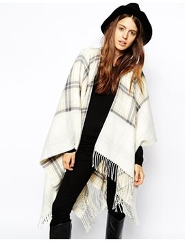 asos-reversible-cape-with-check-panel by asos-collection