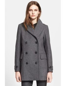 stockcliffe-wool-blend-peacoat by burberry-brit