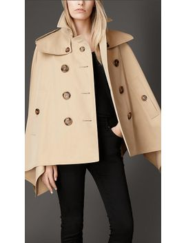 cotton-gabardine-trench-cape by burberry