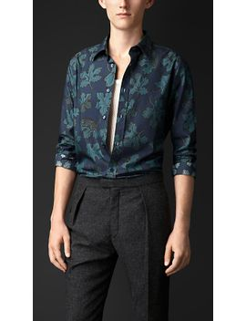 leaf-print-cotton-silk-artist-shirt by burberry