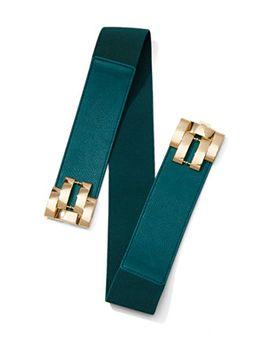 geo-buckle-stretch-belt by new-york-&-company