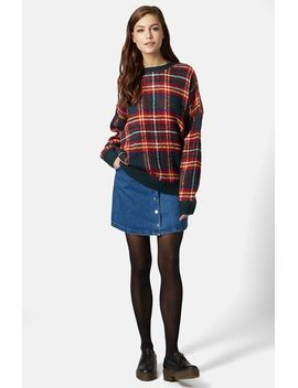 highland-check-sweater by topshop
