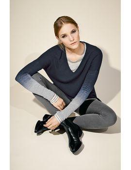 ombré-v-neck-sweater by vince