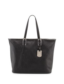 lm-cuir-leather-shoulder-tote-bag,-black by longchamp